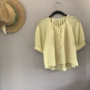 NEW Lemon Drop Silk Blouse 🍋